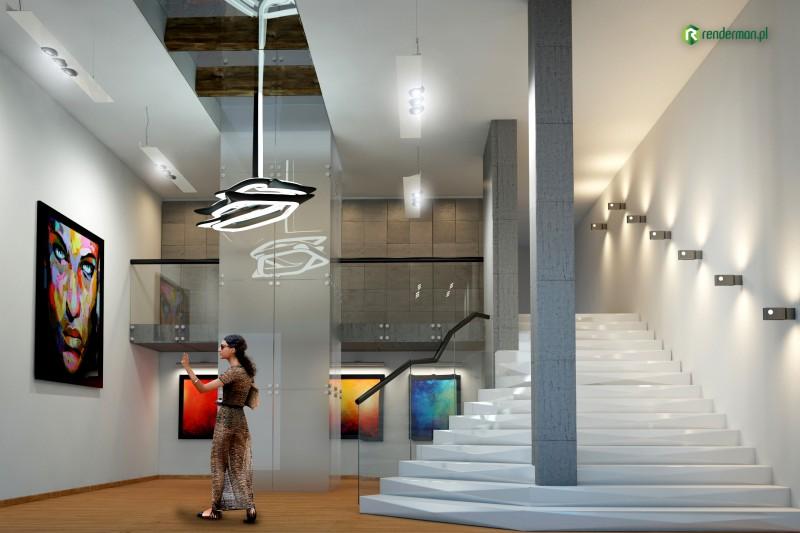 Art Galery Interior rendering