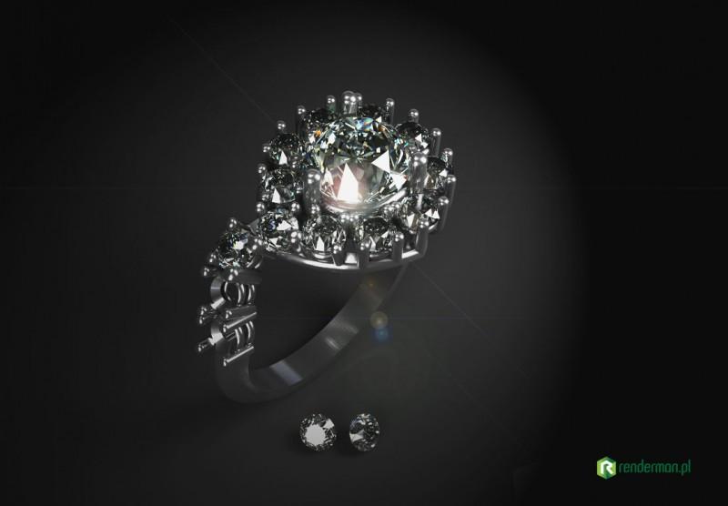 Diamond ring rendering