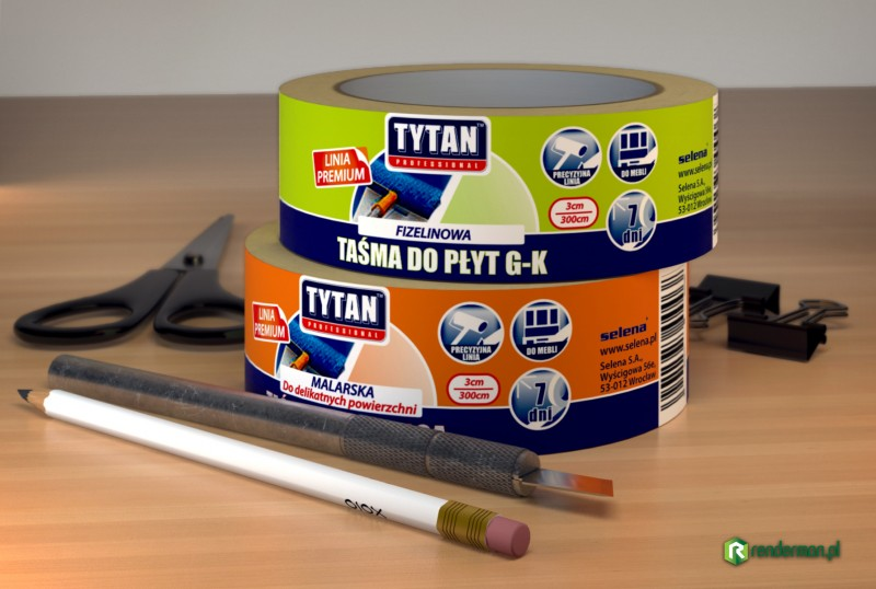 Tape label rendering, wizualizacja produktu