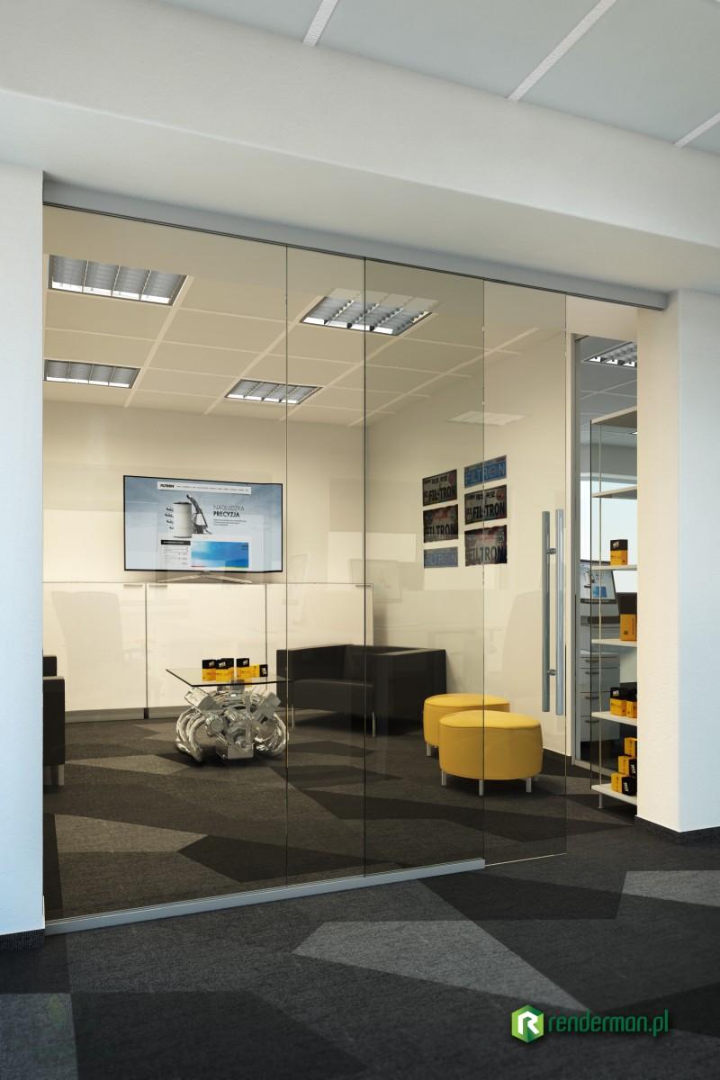 Wizualizacja pomieszczeń biurowych firmy FILTRON