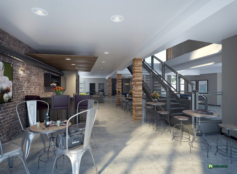 Club house interior rendering