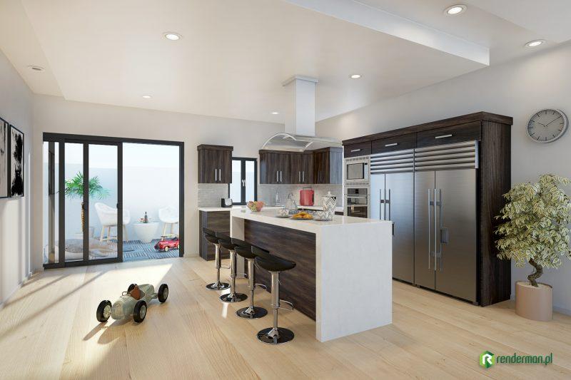 Kitchen rendering, wizualizacja kuchni