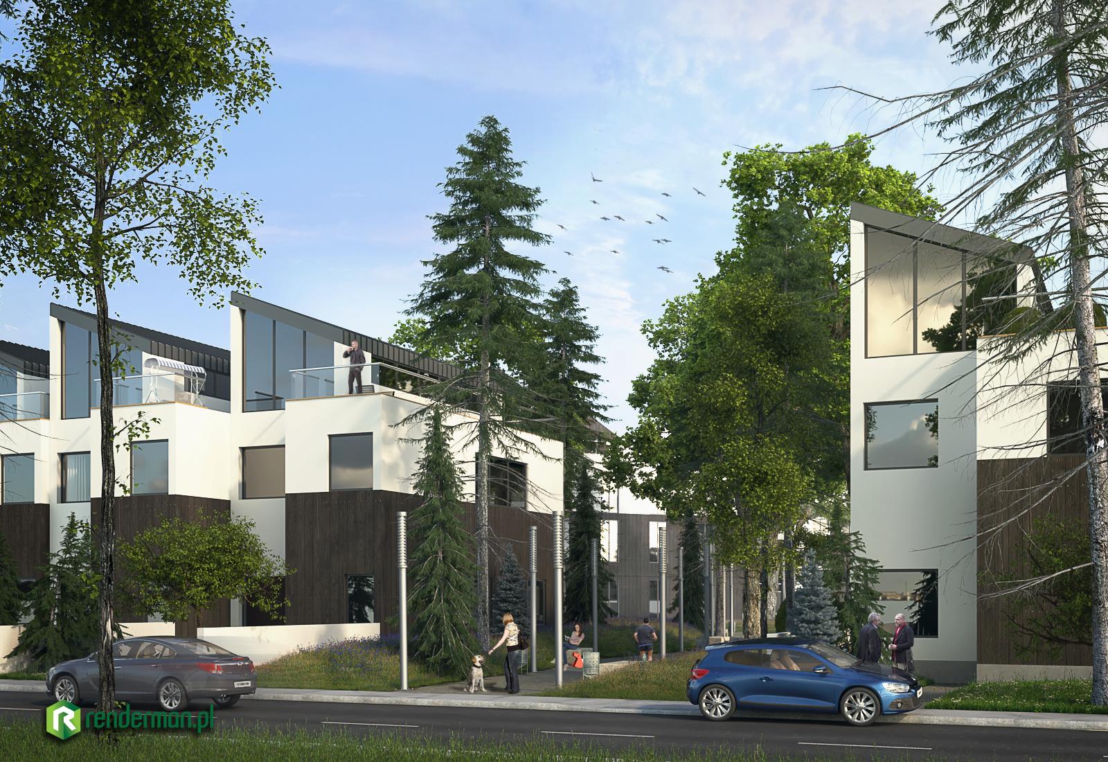Norway Condo building, wizualizacja budynku, wizualizacja 3D,rendering 3D