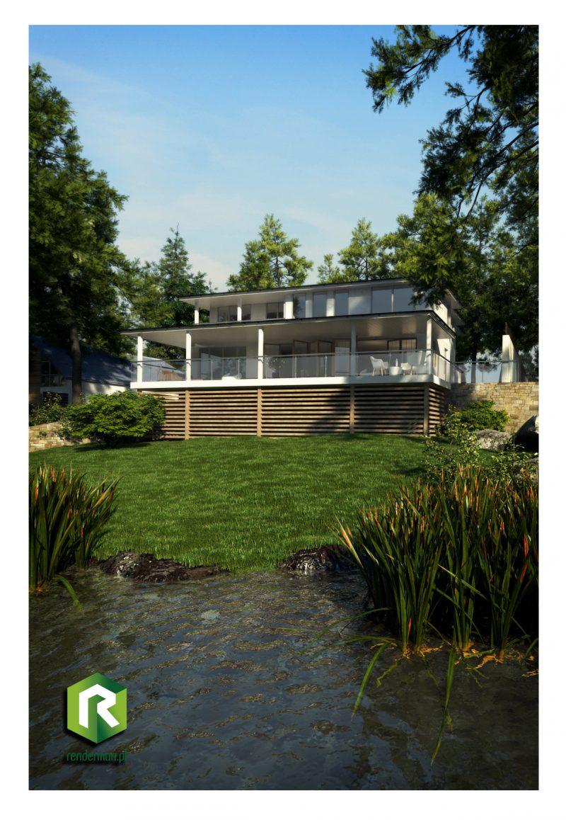 Building exterior rendering