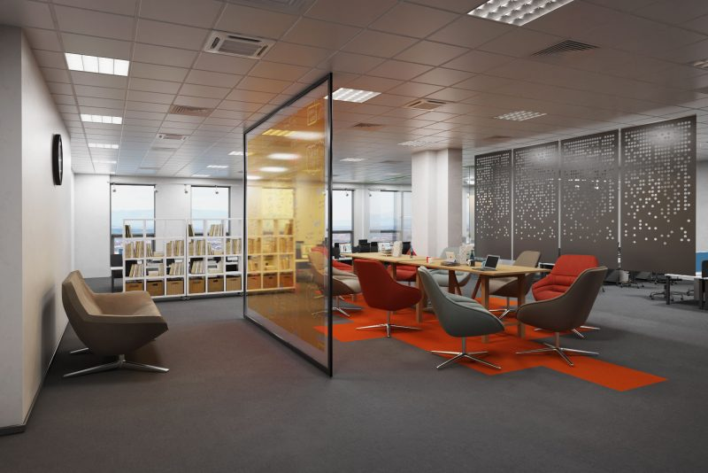 Office interior rendering